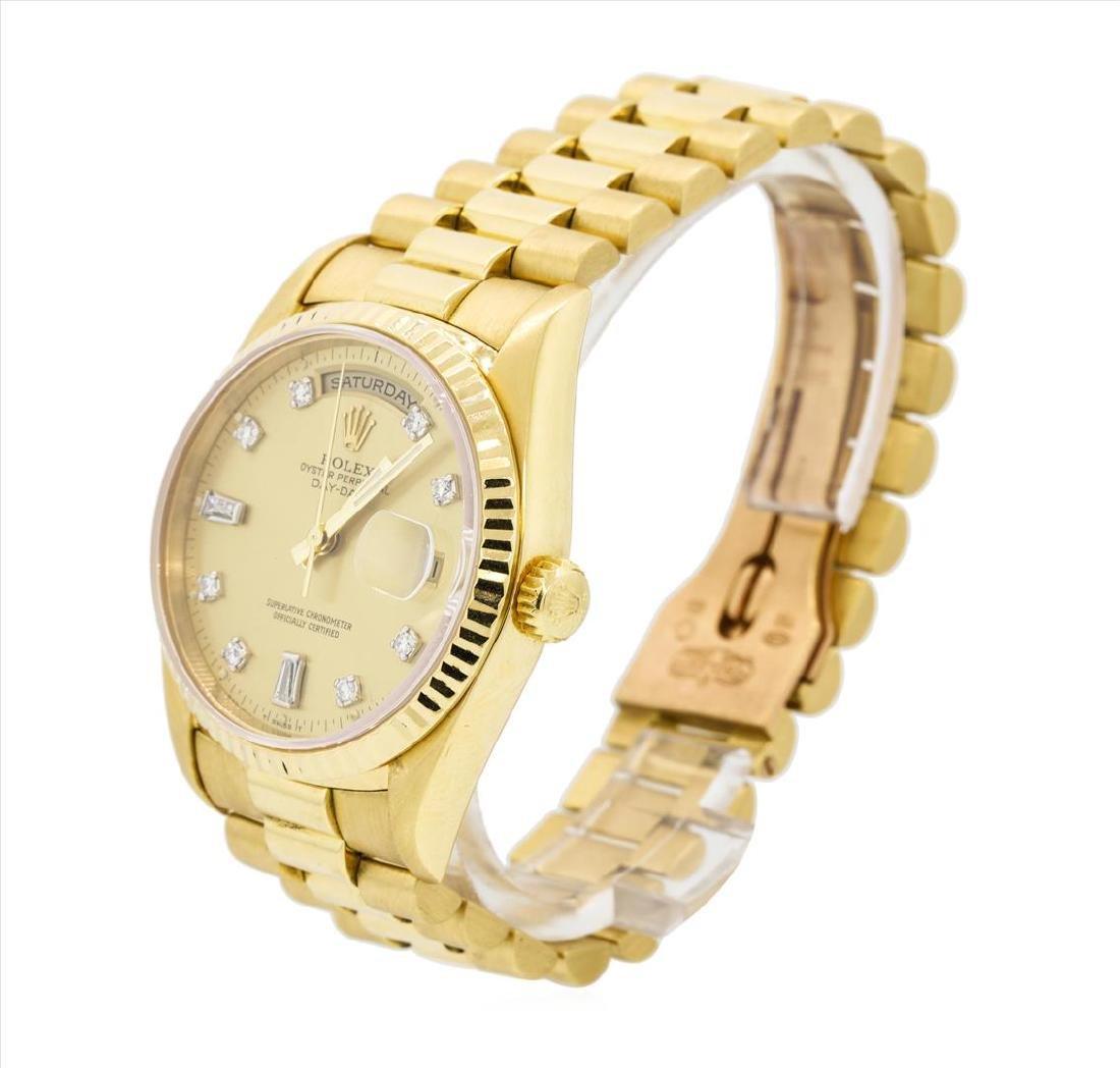 Rolex President 18KT Yellow Gold DayDate Mens - 2