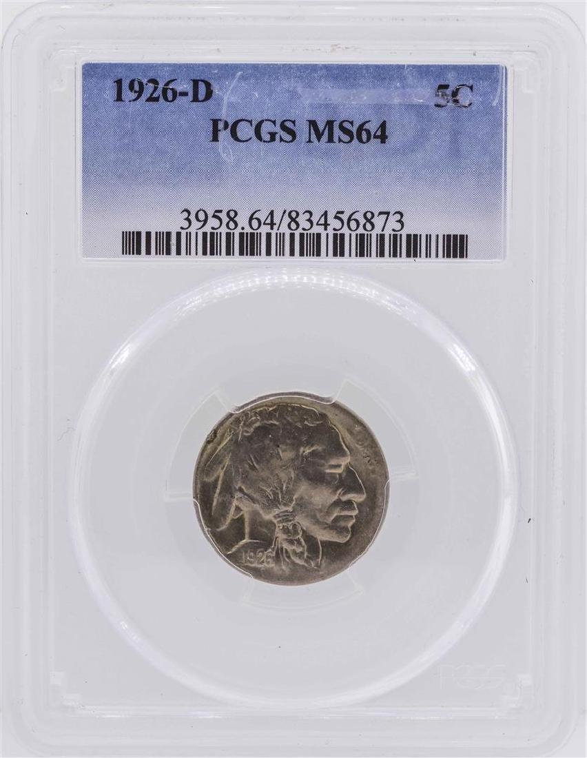 1926-D Buffalo Nickel Coin PCGS MS64