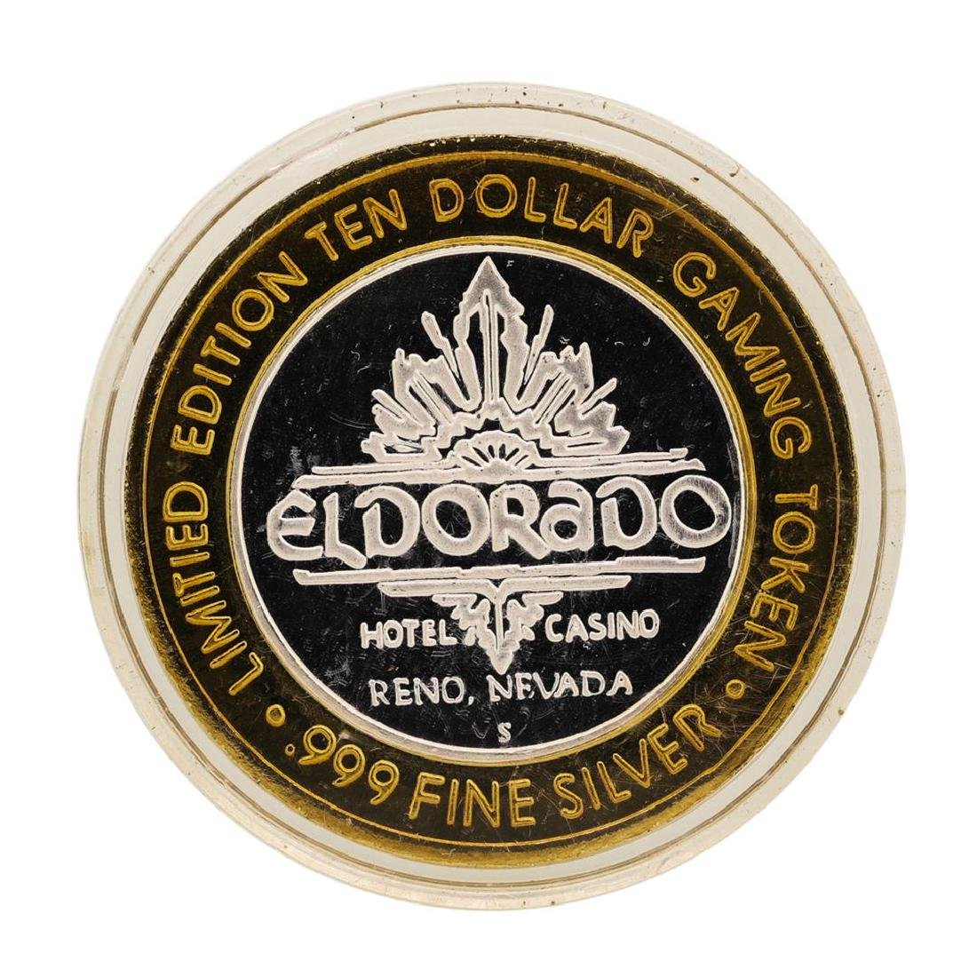 .999 Silver Eldorado Hotel and Casino $10 Casino Gaming - 2