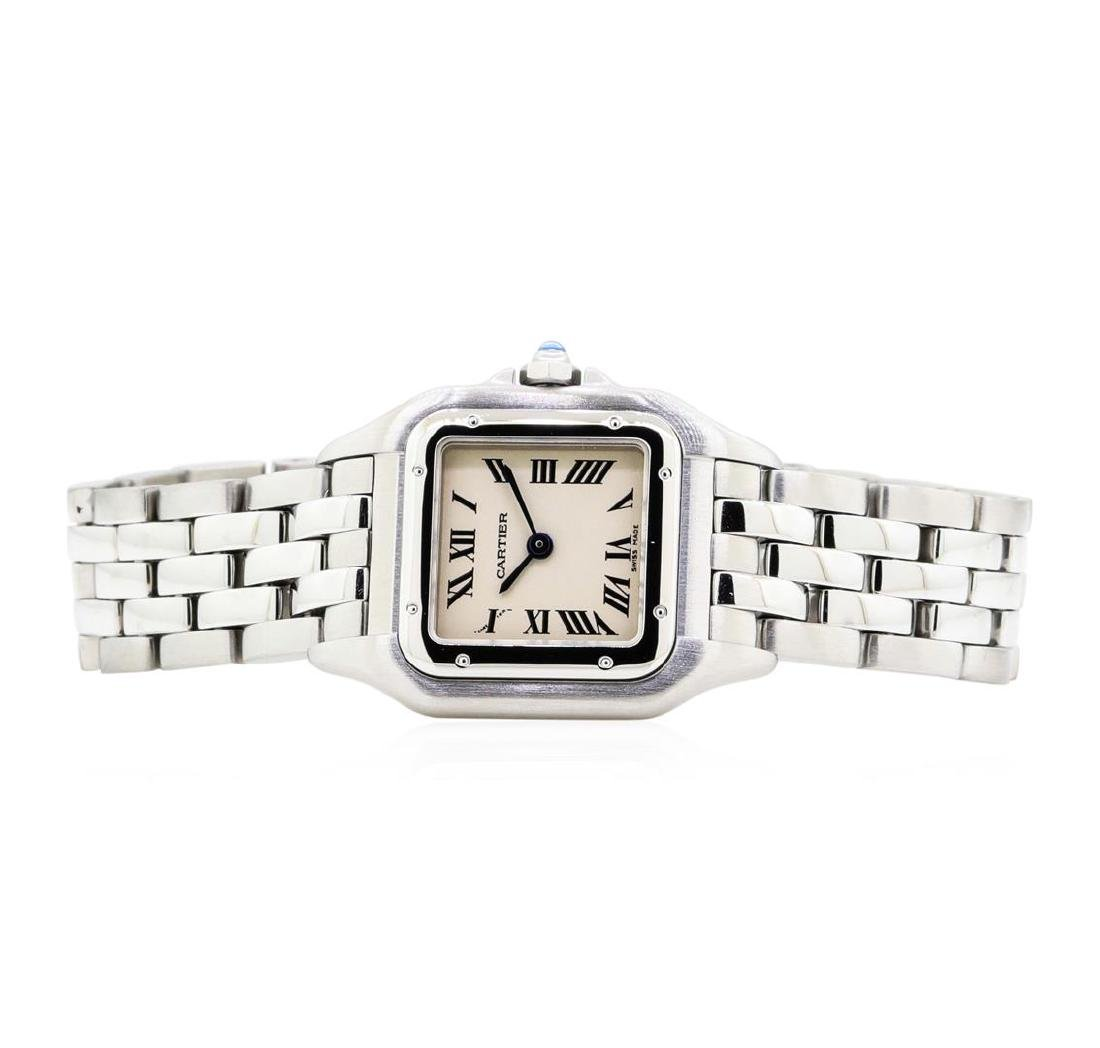 Stainless Steel Ladies Cartier Panthere Wristwatch