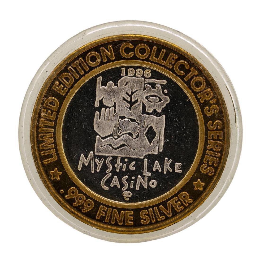 .999 Silver Mystic Lake Casino $10 Limited Edition - 2