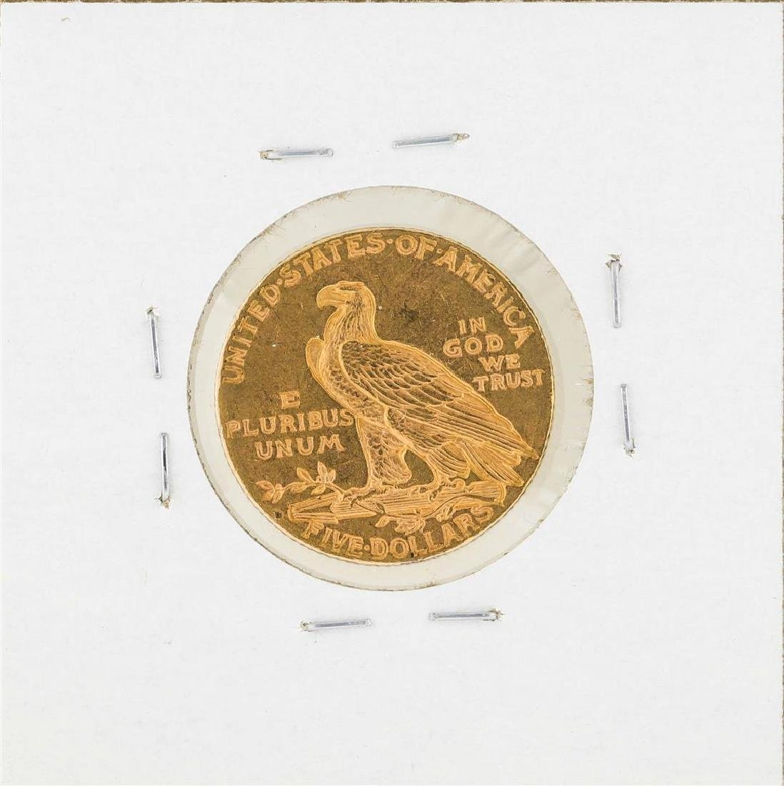 1909-D $5 Indian Head Half Eagle Gold Coin - 2