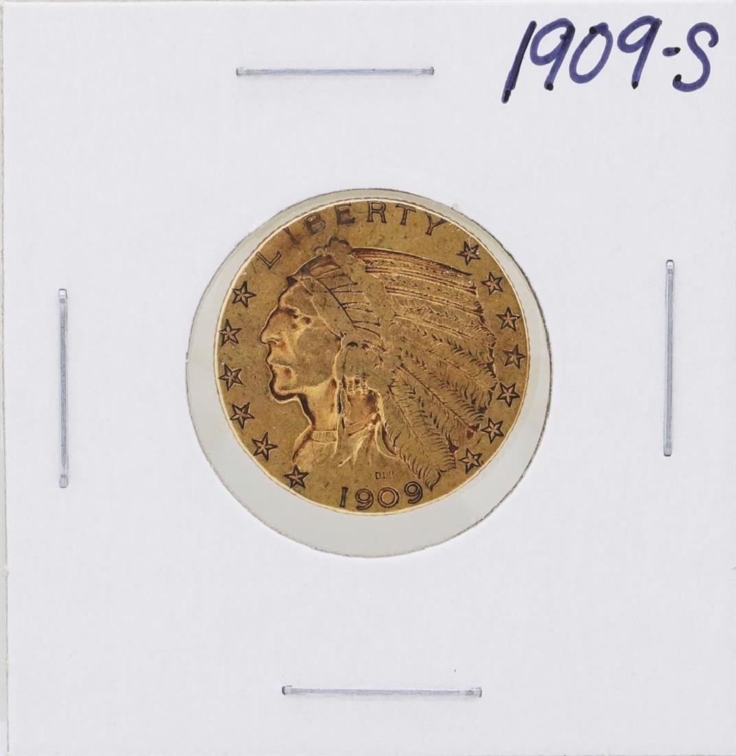 1909-S $5 Indian Head Half Eagle Gold Coin