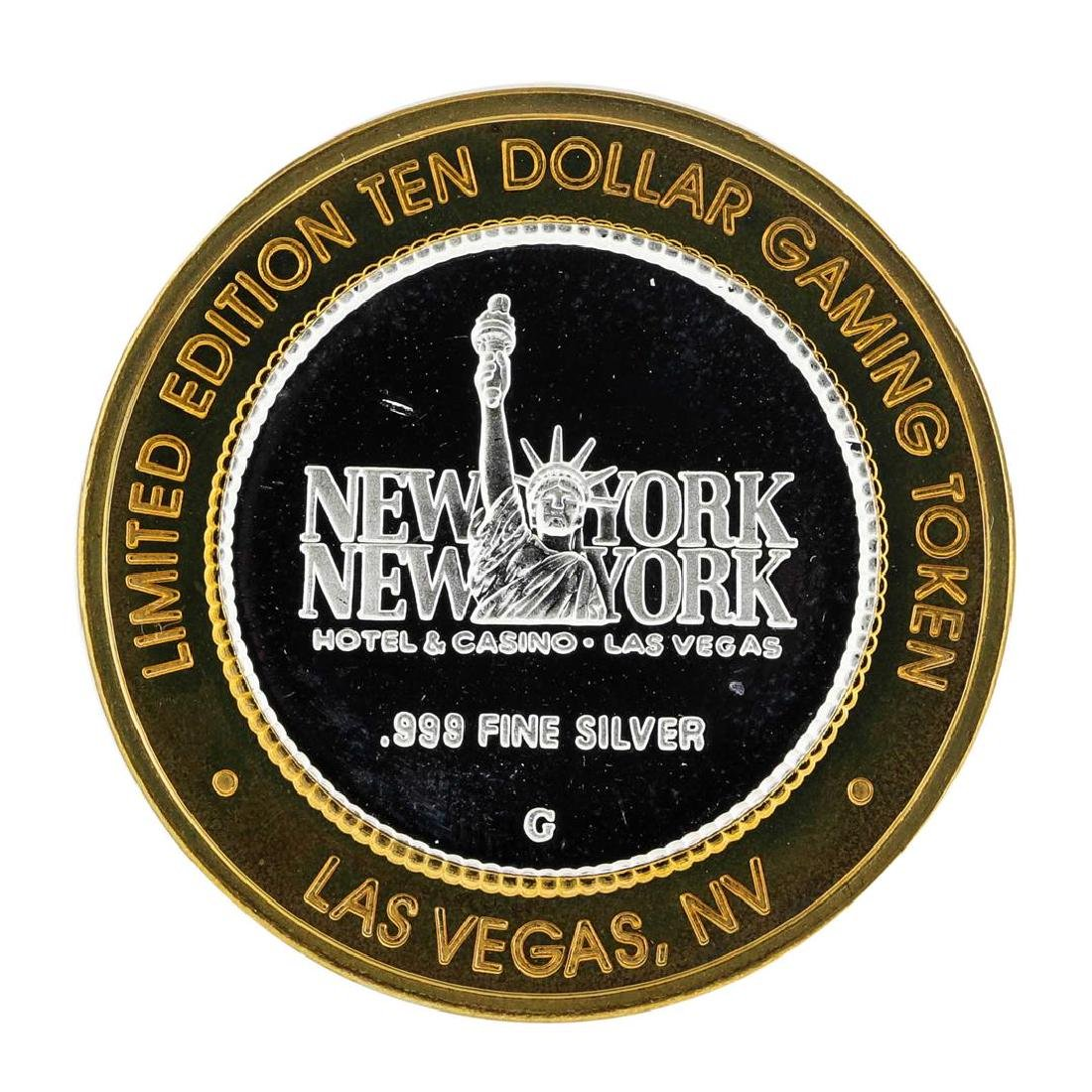 .999 Silver New York New York Hotel & Casino $10 Casino - 2