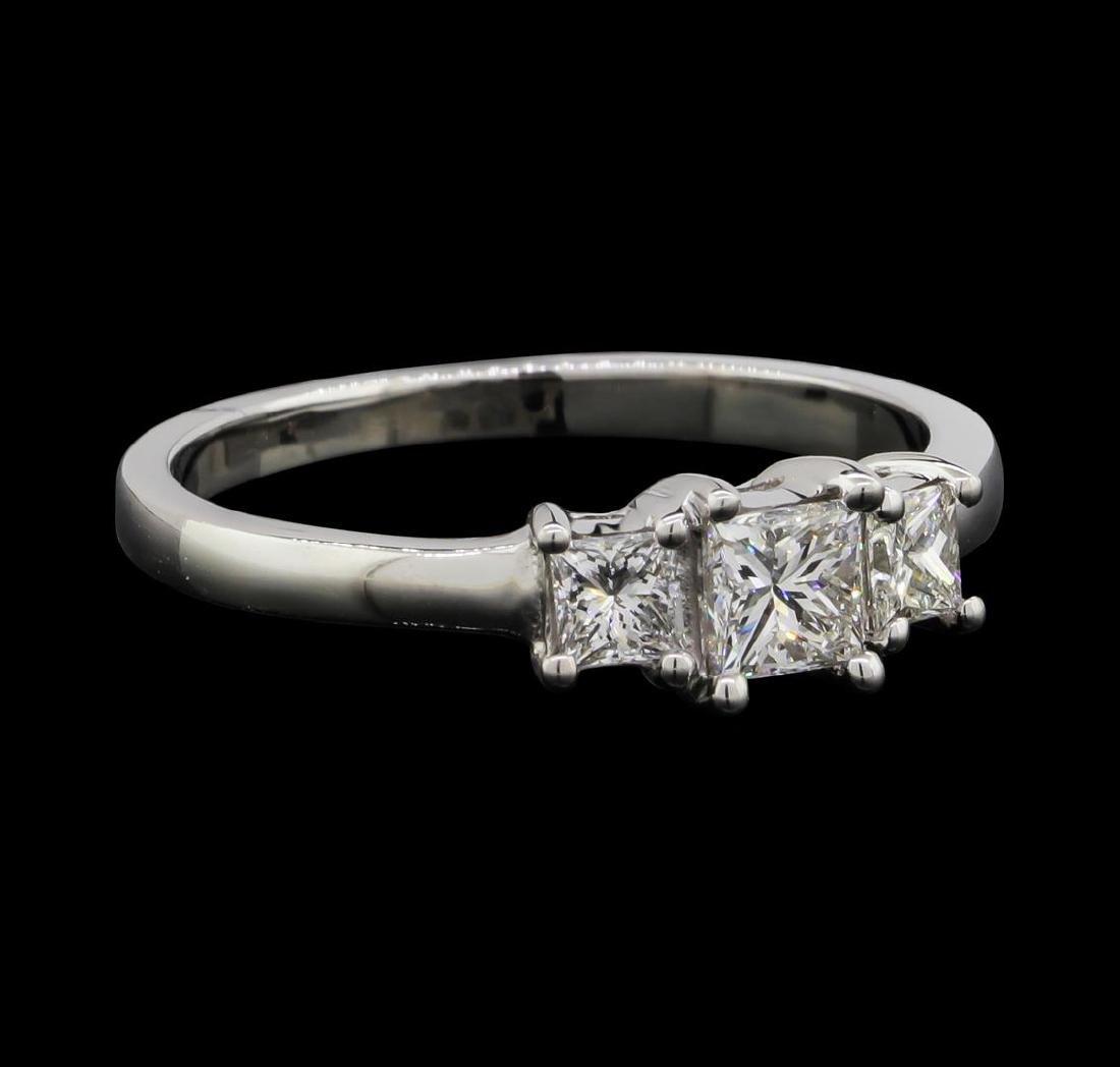 14KT White Gold 0.50 ctw Diamond Ring - 2