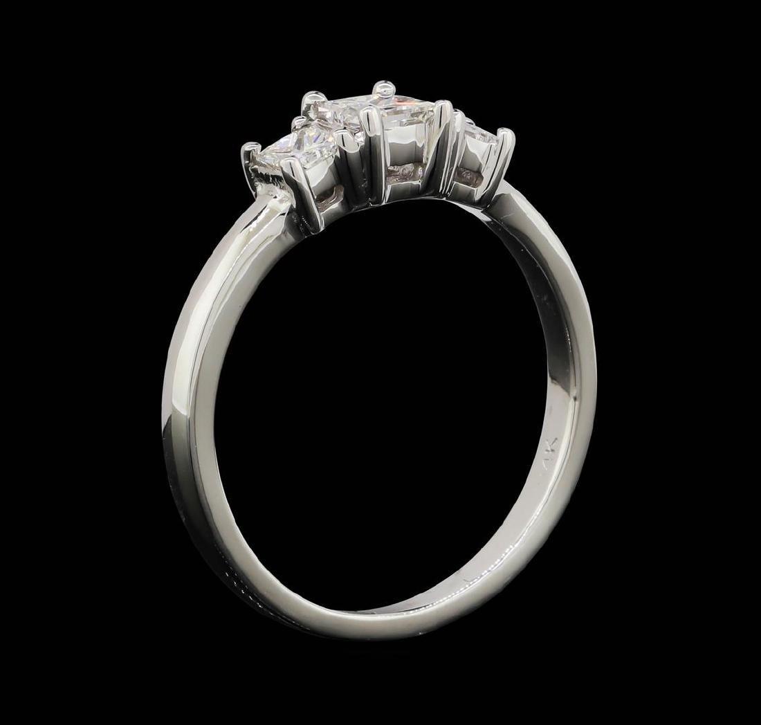 14KT White Gold 0.50 ctw Diamond Ring - 4