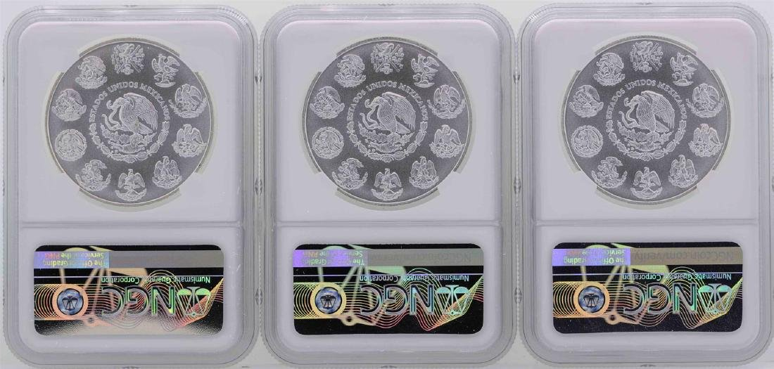 Lot of (3) 2018MO Mexico 1 Oz First Releases Silver - 2