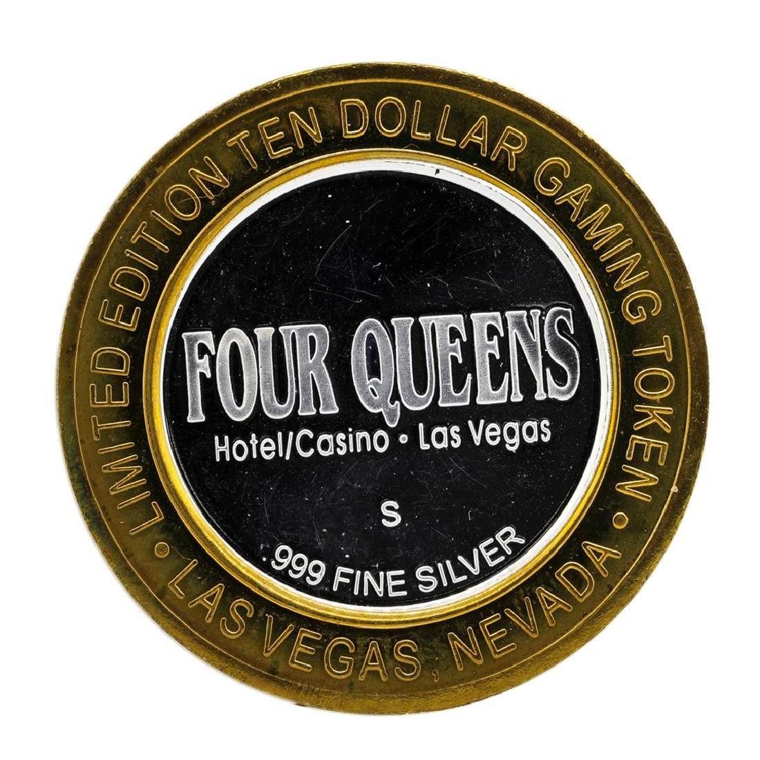.999 Silver Four Queens Casino Hotel Las Vegas $10 - 2