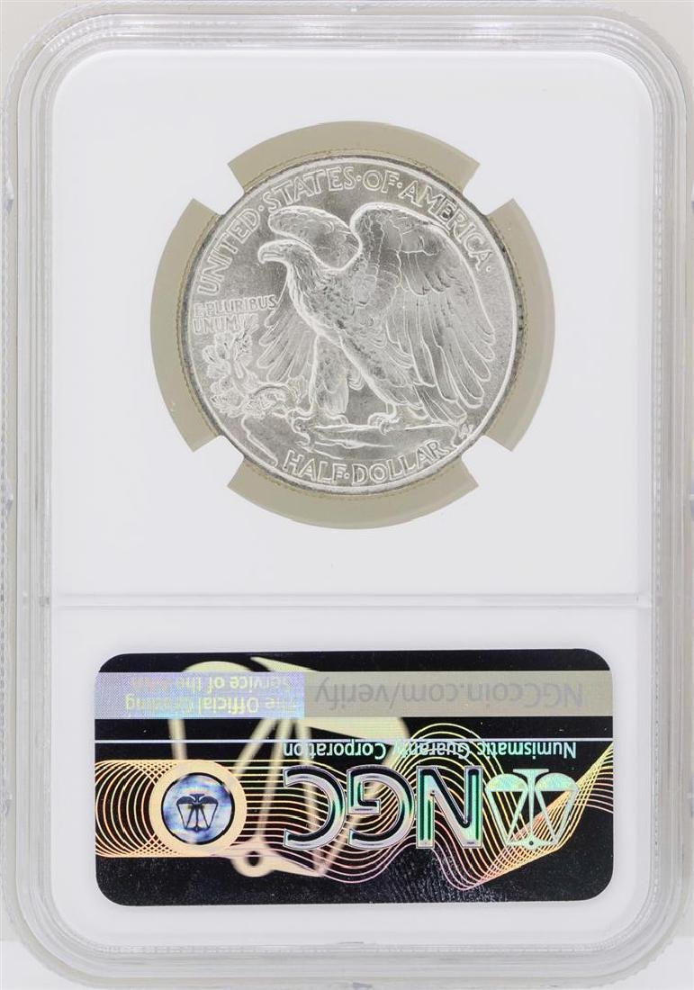 1947 Walking Liberty Half Dollar Coin NGC MS64 - 2