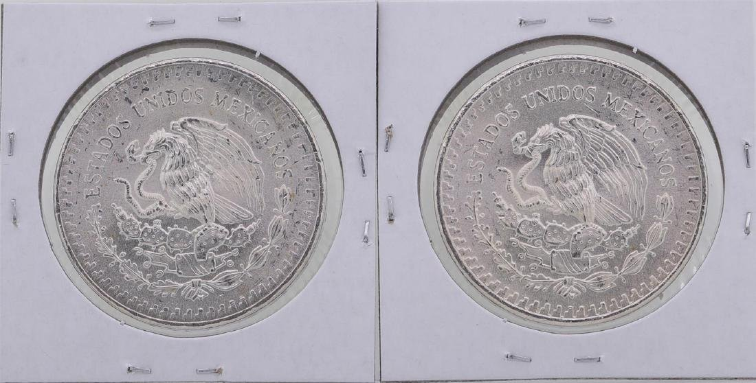 Lot of (2) 1982 Mexico 1 Oz Liberated Silver Coins - 2