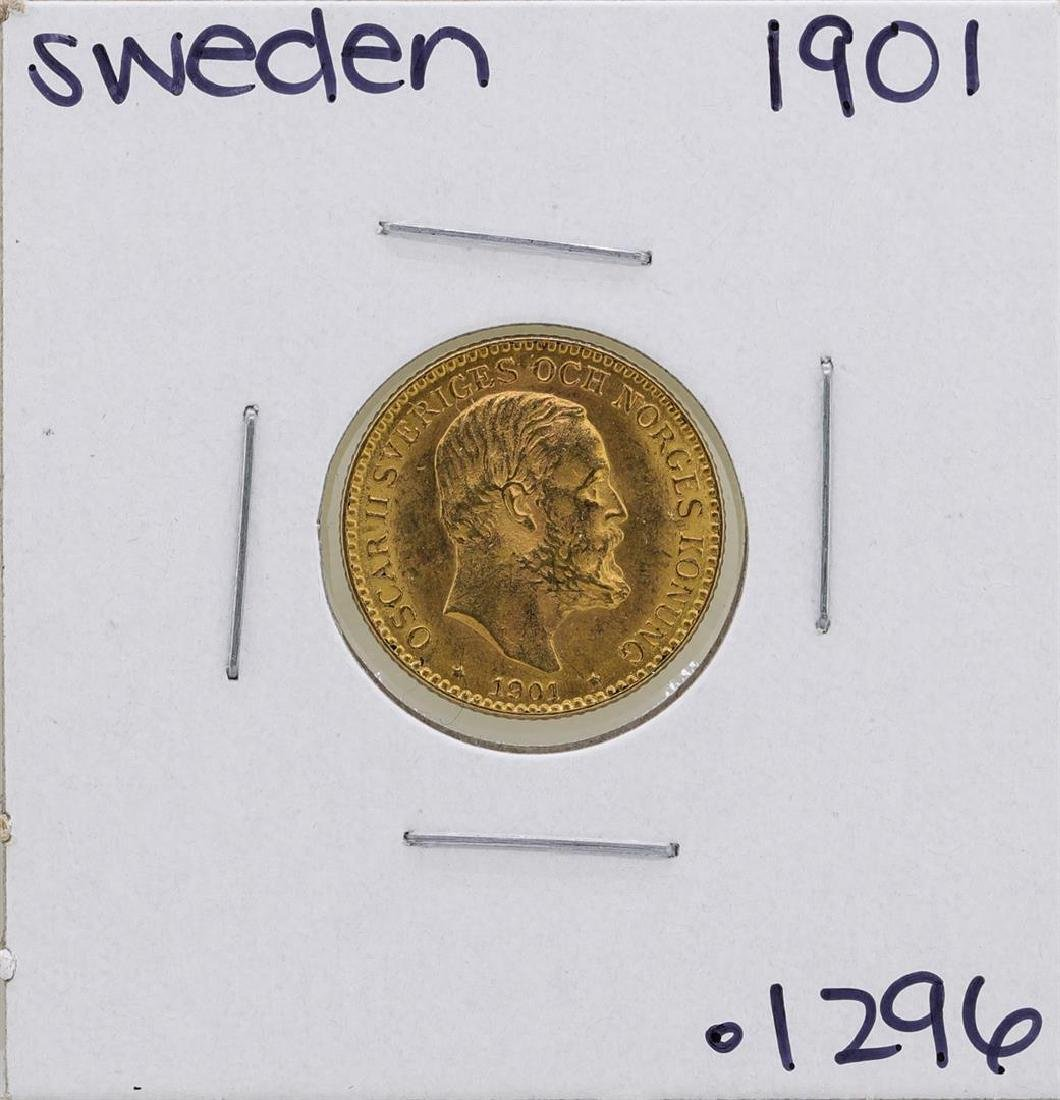 1901 Sweden 10 Kroner Gold Coin