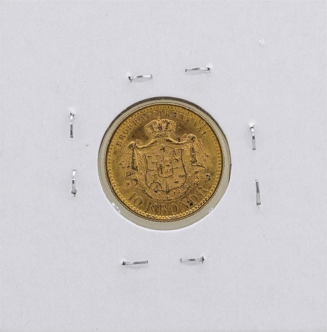 1901 Sweden 10 Kroner Gold Coin - 2
