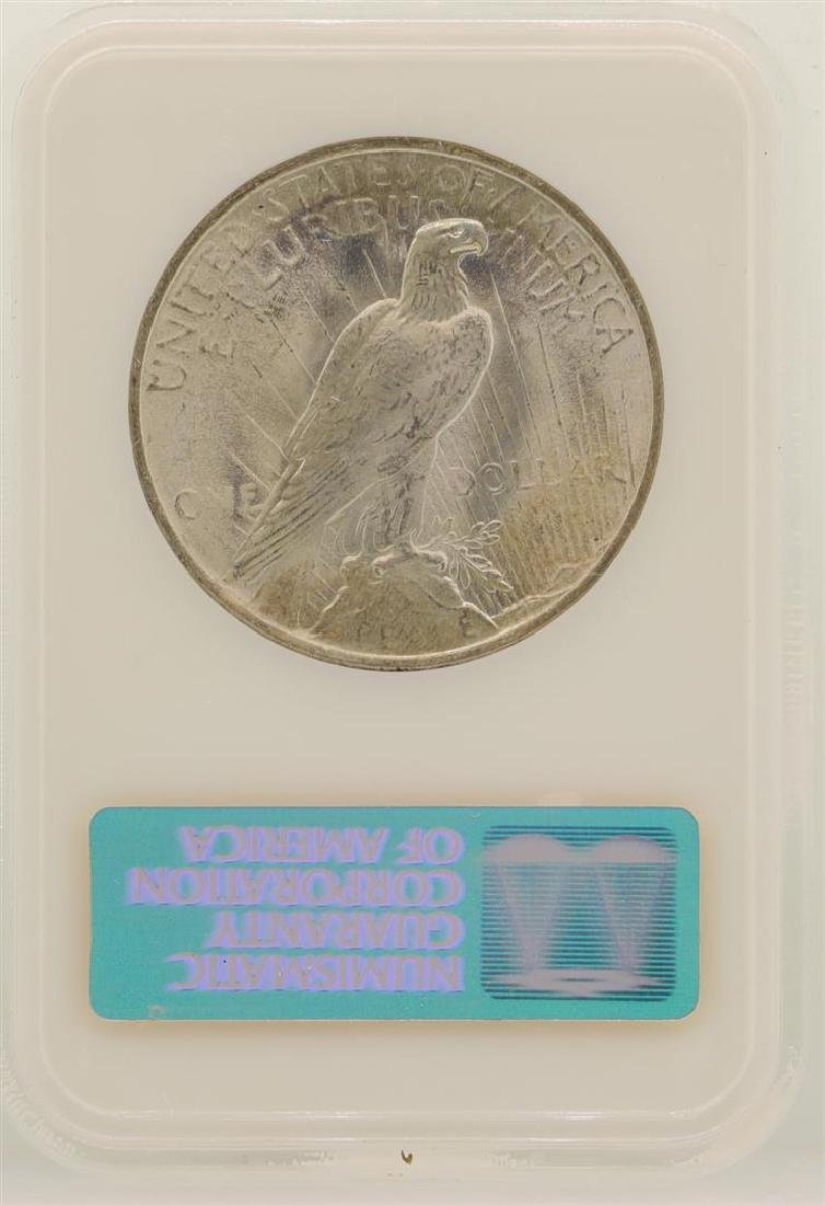 1923 $1 Peace Silver Dollar Coin NGC MS64 - 2