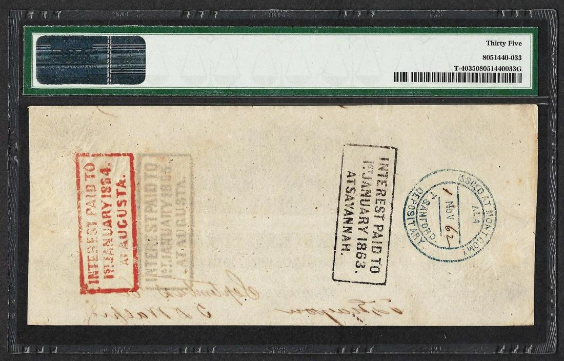1862-63 $100 Confederate States of America Note T-40 - 2