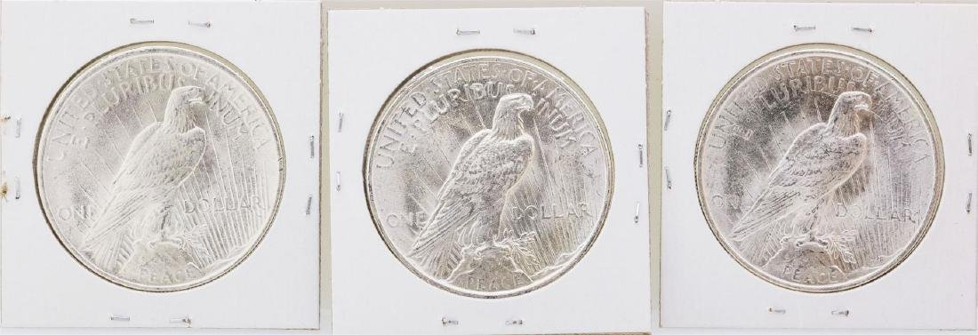 Lot of (3) 1924 $1 Peace Silver Dollar Coins - 2