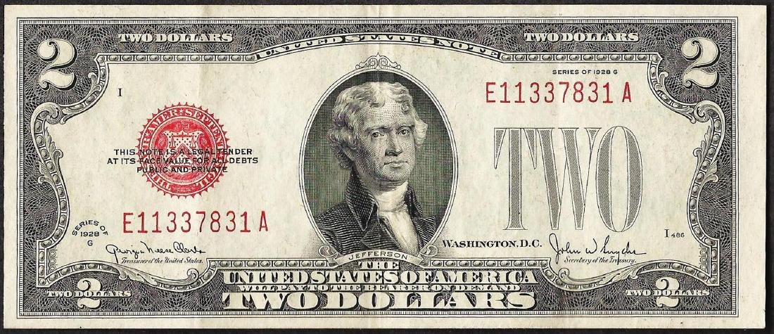 1928G $2 Legal Tender Note