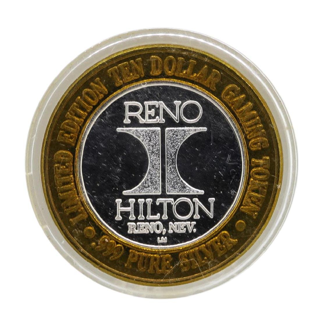 .999 Silver Hilton Reno, Nevada $10 Casino Limited - 2