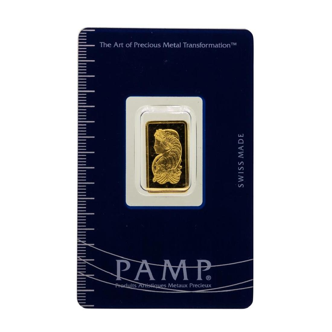 Suisse 2.5 Gram Fine Gold Pamp Gold Bar