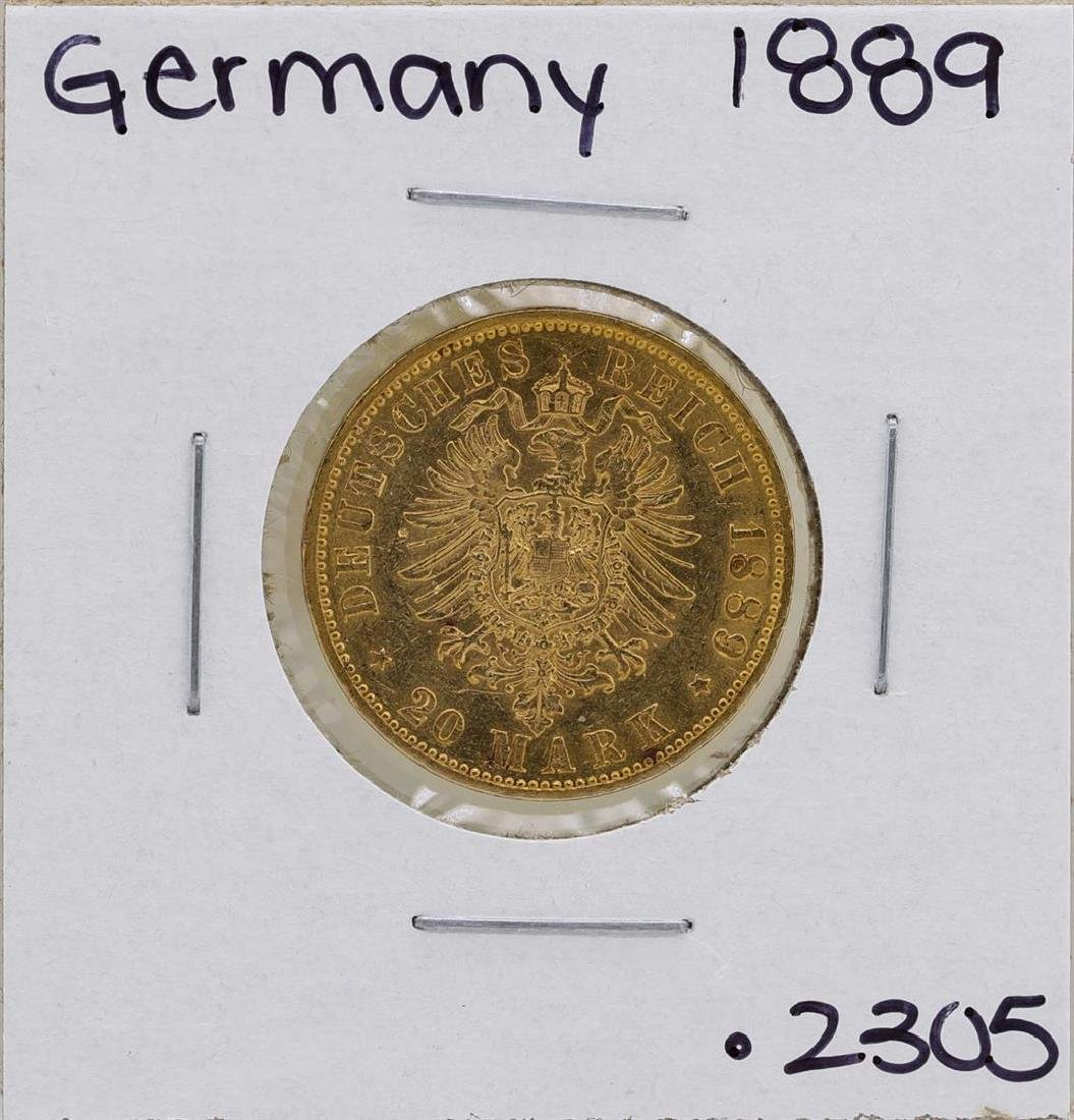 1889-A Germany-Prussia 20 Marks Gold Coin