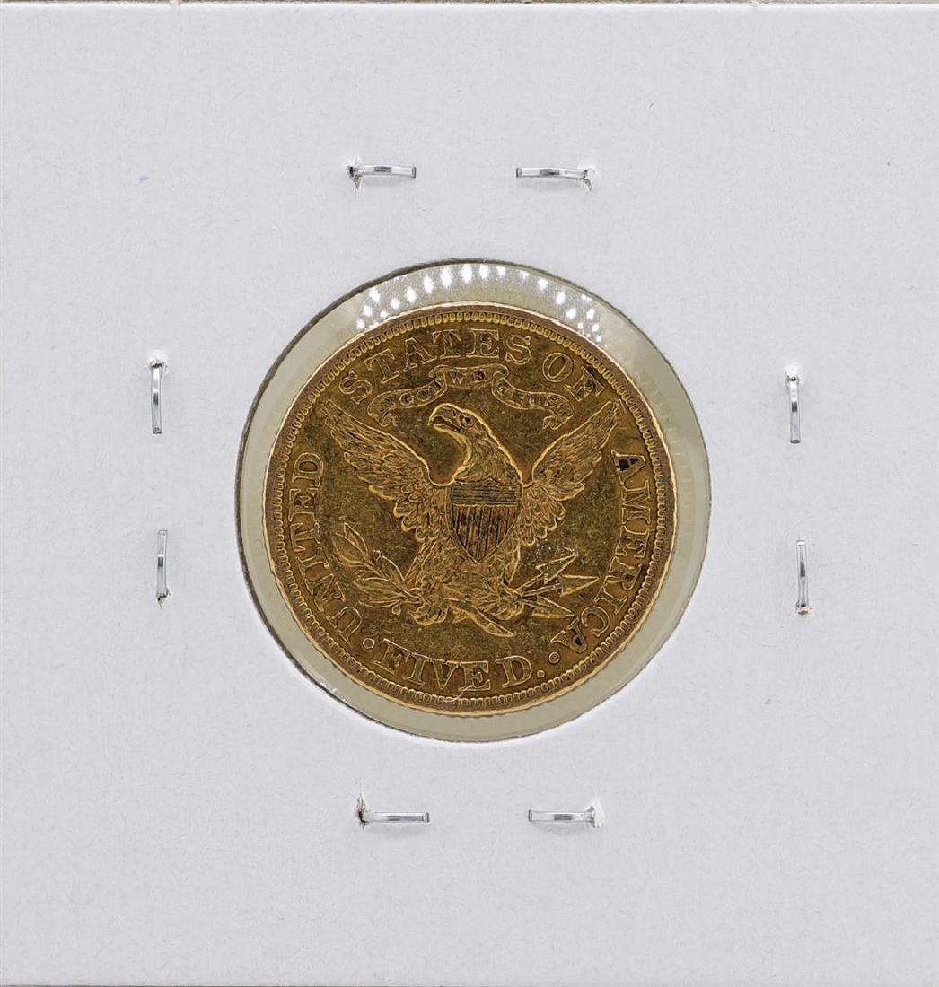 1885 $5 Liberty Head Half Eagle Gold Coin - 2