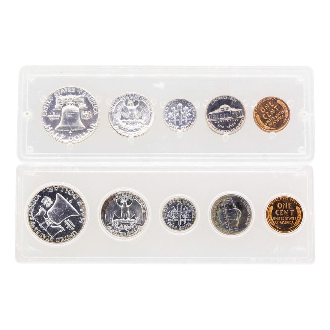 Lot of 1955-1956 (5) Coin Proof Sets - 2