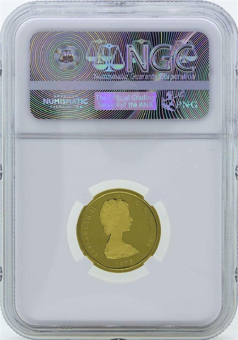 1975 Turks & Caicos 50 Crowns Proof Gold Coin NGC PF68 - 2