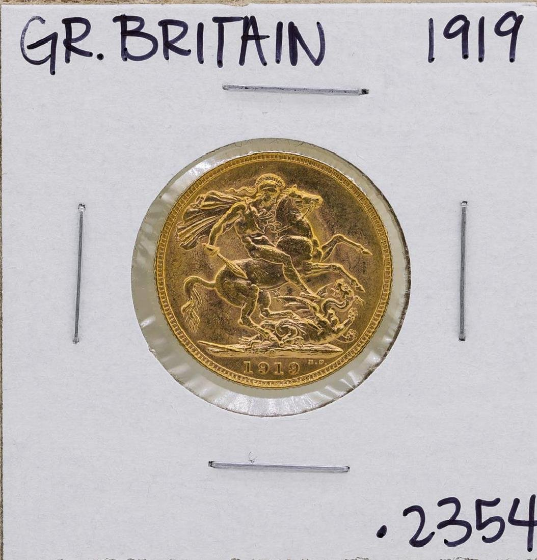1919 Great Britain George IV Sovereign Gold Coin