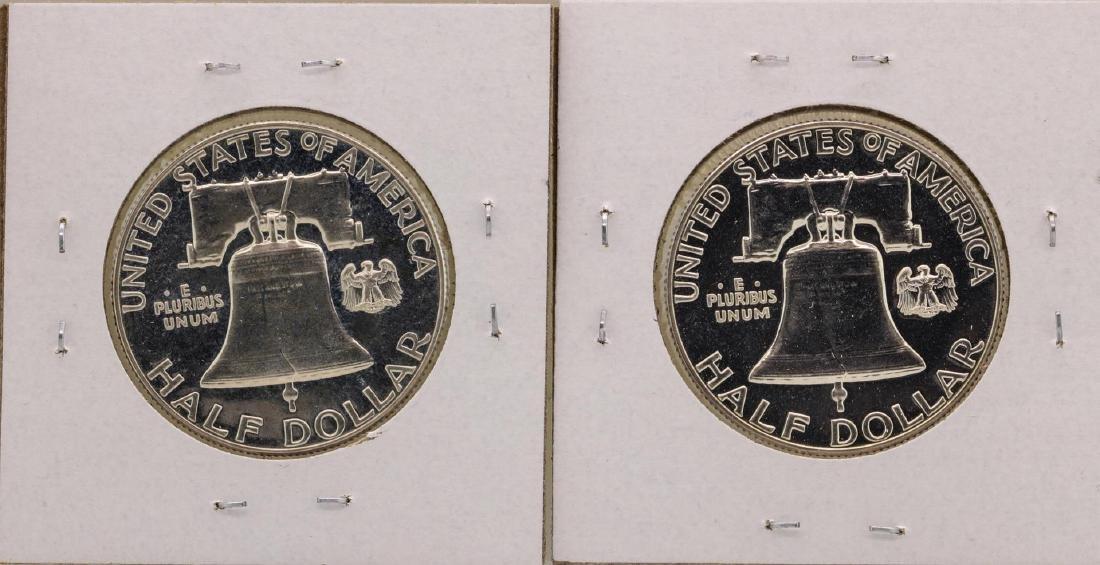 Lot of (2) 1957 Franklin Half Dollar Proof Coins - 2