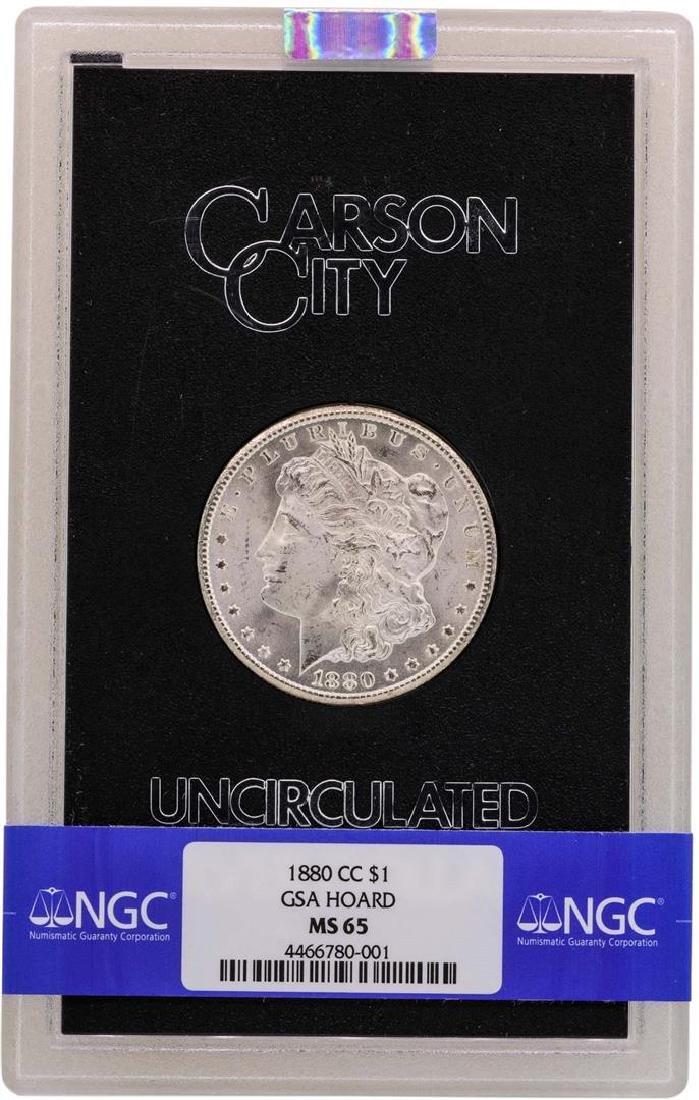 1880-CC $1 Morgan Silver Dollar Uncirculated Coin GSA