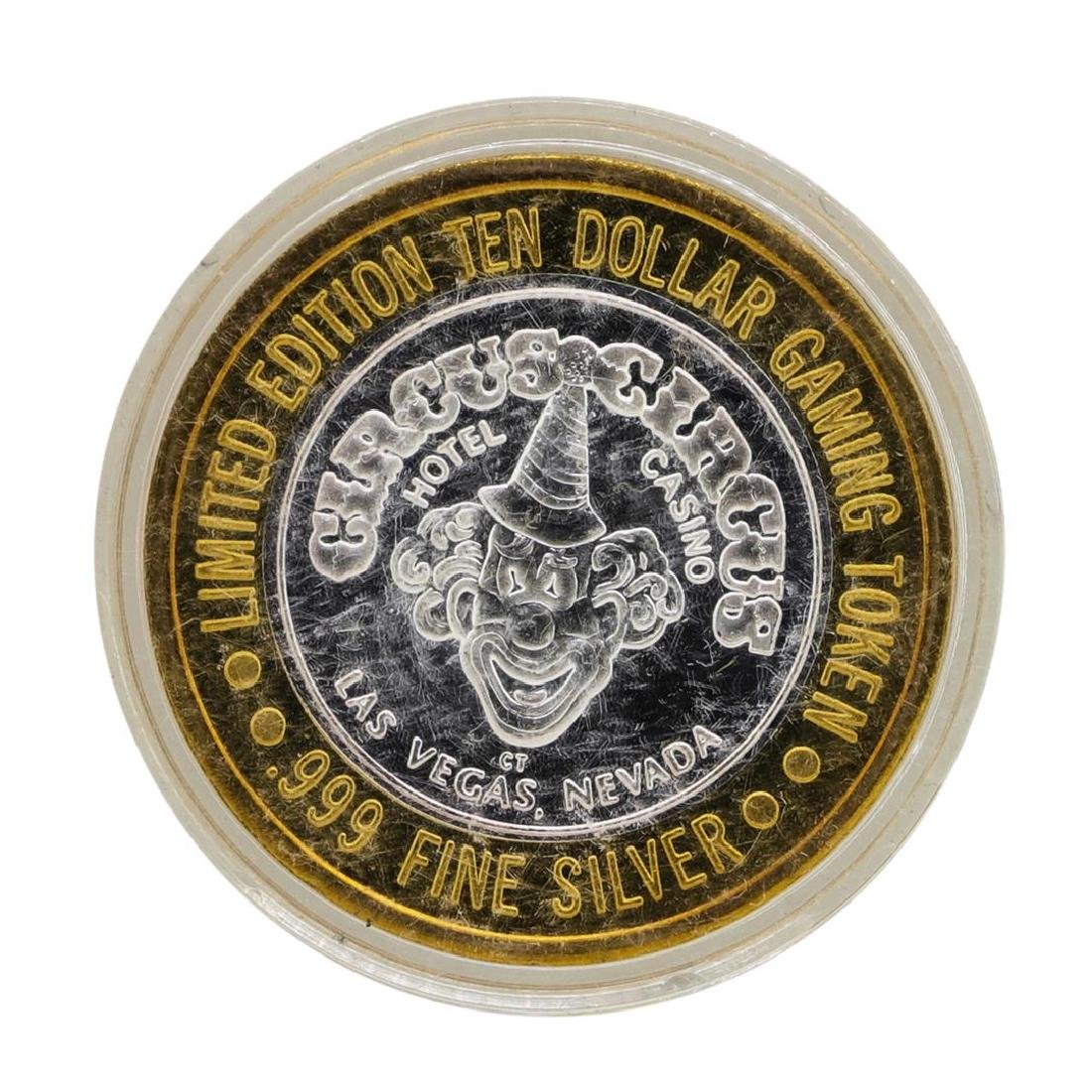 .999 Silver Circus Circus Hotel & Casino $10 Limited - 2