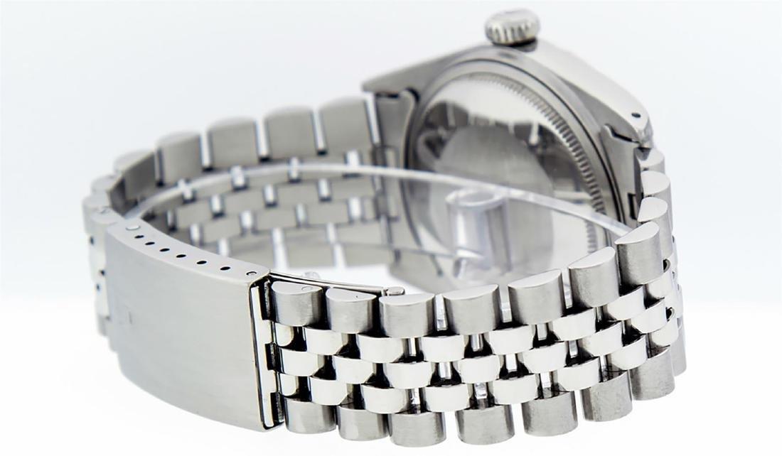 Rolex Men's Stainless Steel Slate Grey Diamond 36MM - 4