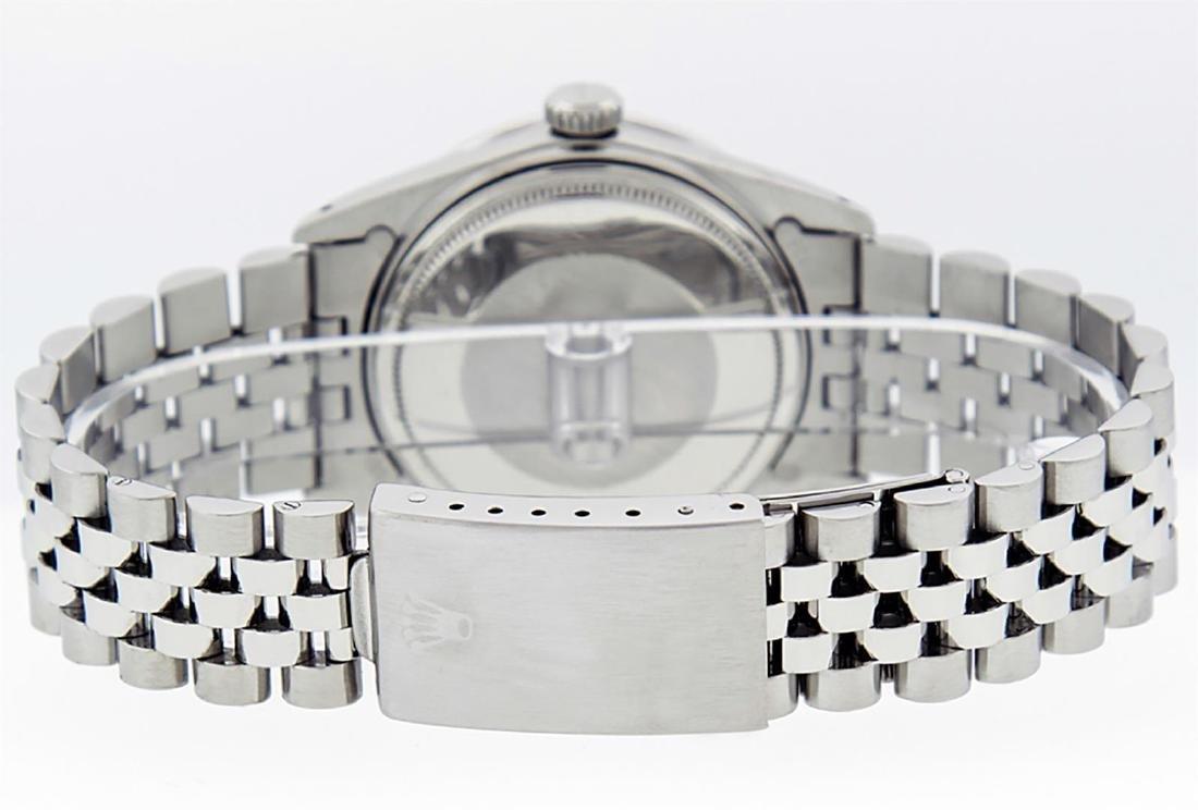 Rolex Men's Stainless Steel Slate Grey Diamond 36MM - 5