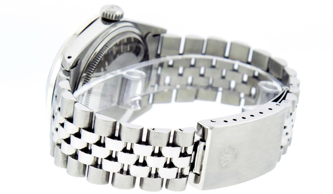 Rolex Men's Stainless Steel Slate Grey Diamond 36MM - 7