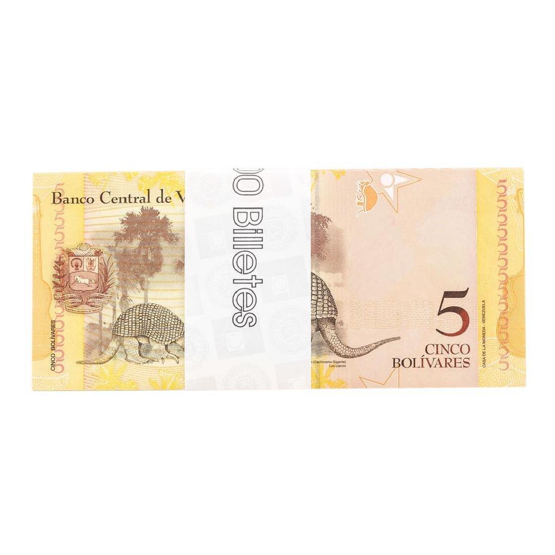Pack of (100) Consecutive Venezuela 5 Bolivares - 2