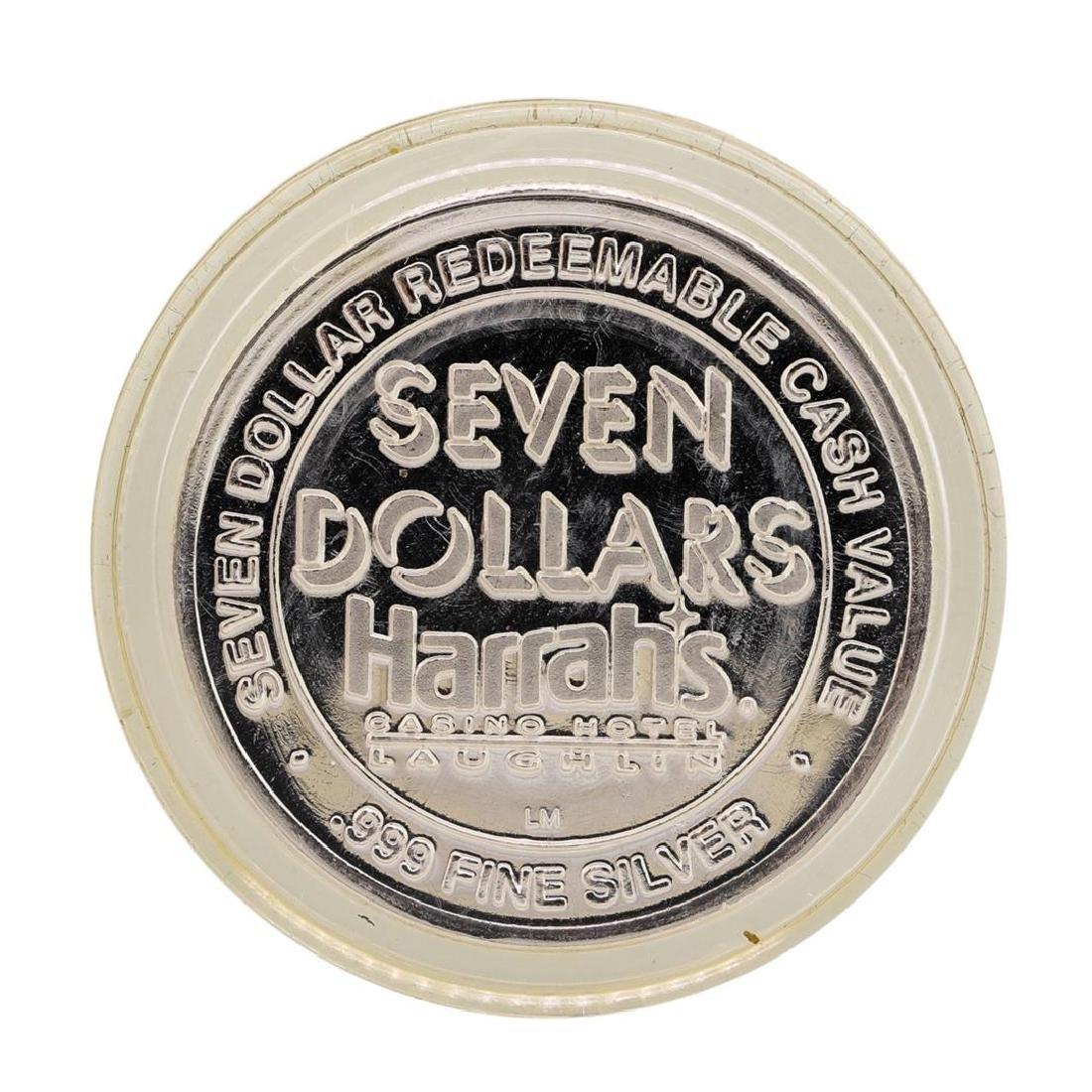 .999 Fine Silver Harrah's Laughlin, Nevada $7 Casino - 2