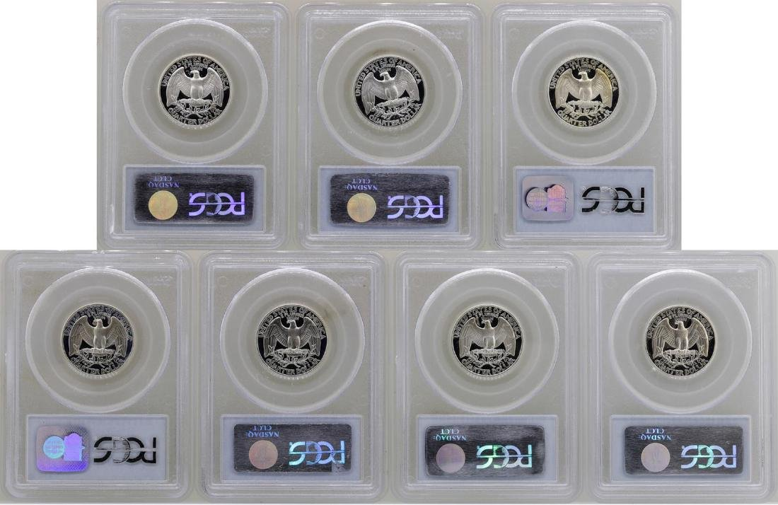 Lot of 1992-S to 1998-S State Silver Proof Quarter - 2