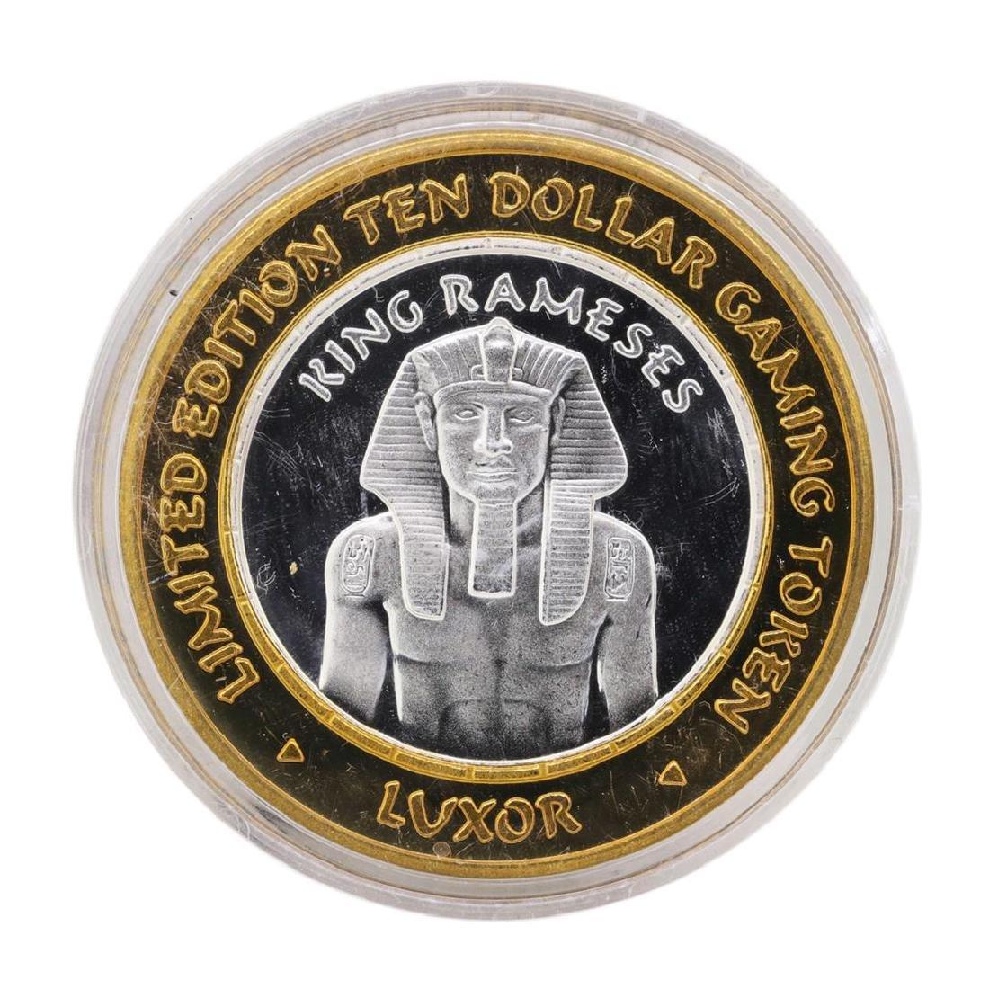 .999 Silver Luxor Las Vegas, Nevada $10 Casino Limited