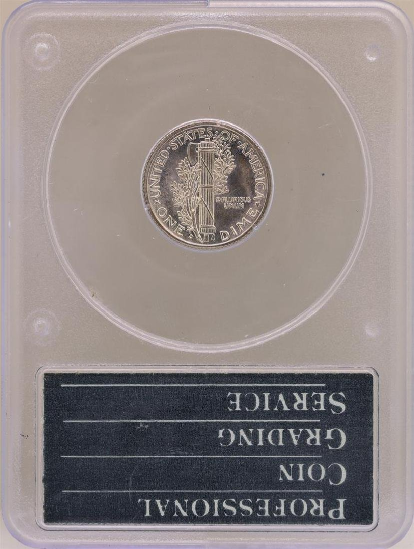 1938-D Mercury Dime Coin PCGS MS65FB - 2
