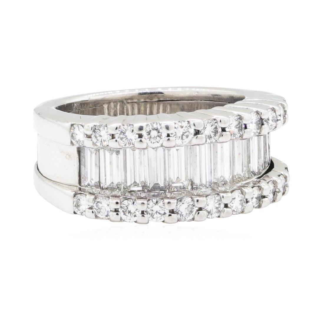 Platinum 2.45 ctw Diamond Wedding Band