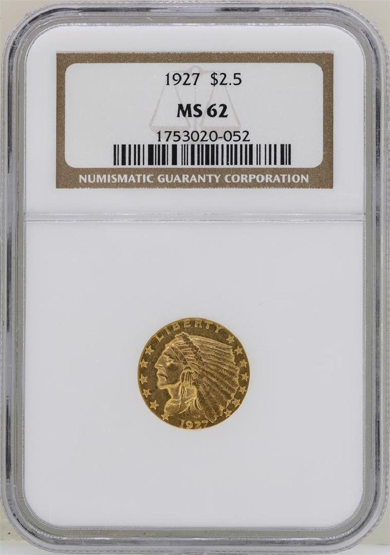 1927 $2 1/2 Indian Head Quarter Eagle Gold Coin NGC