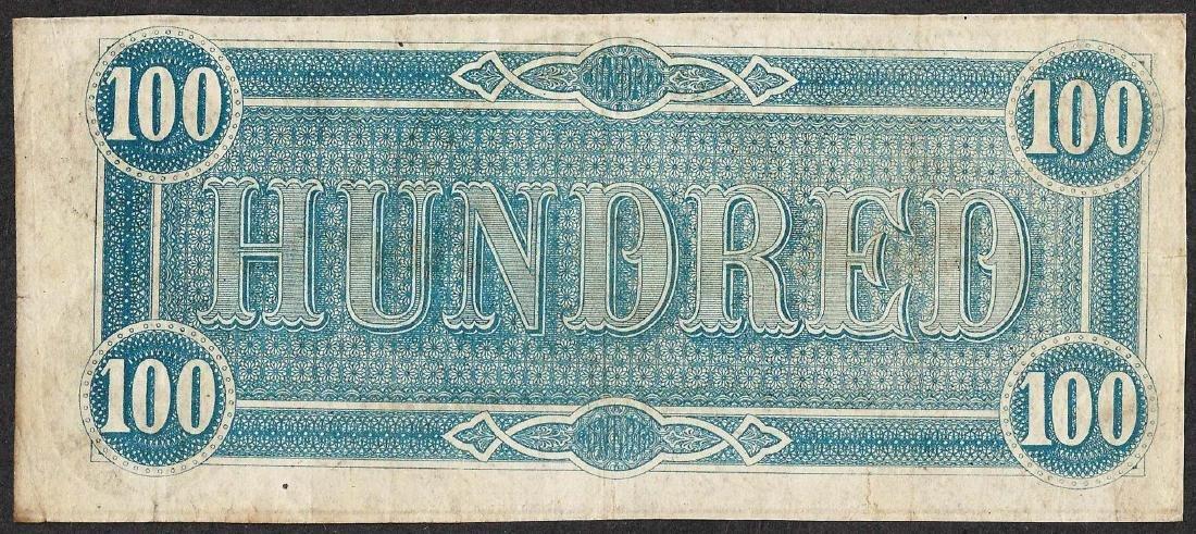1864 $100 Confederate States of America Note - 2