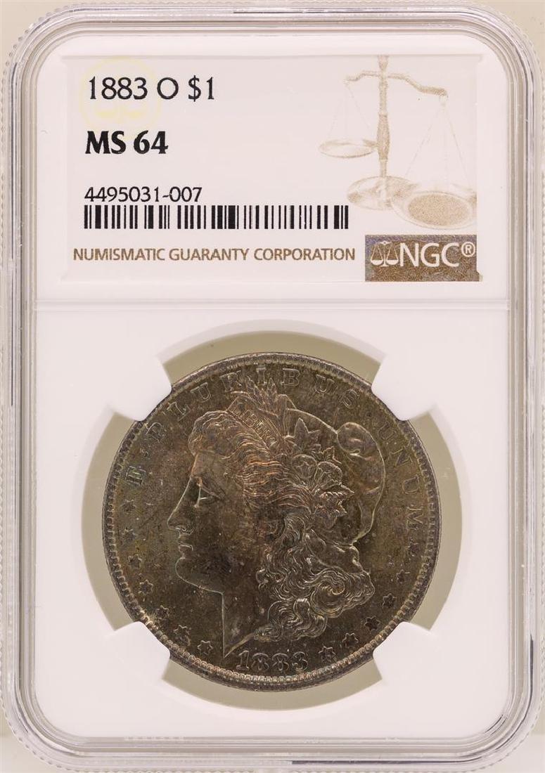 1883-O $1 Morgan Silver Dollar Coin NGC MS64 Great