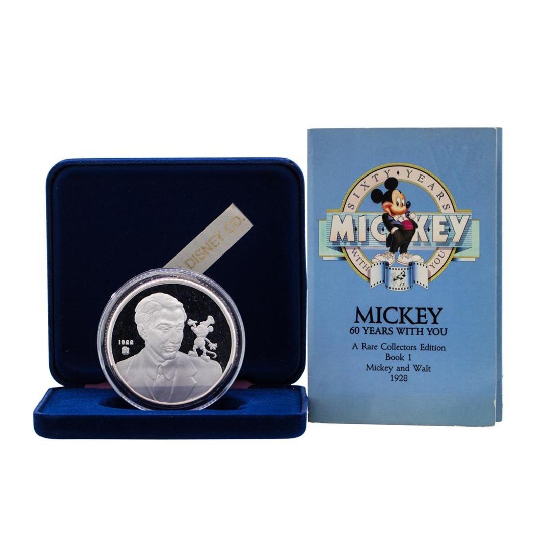 1988 Rarities Mint Walt Disney 60 Years Mickey & Walt
