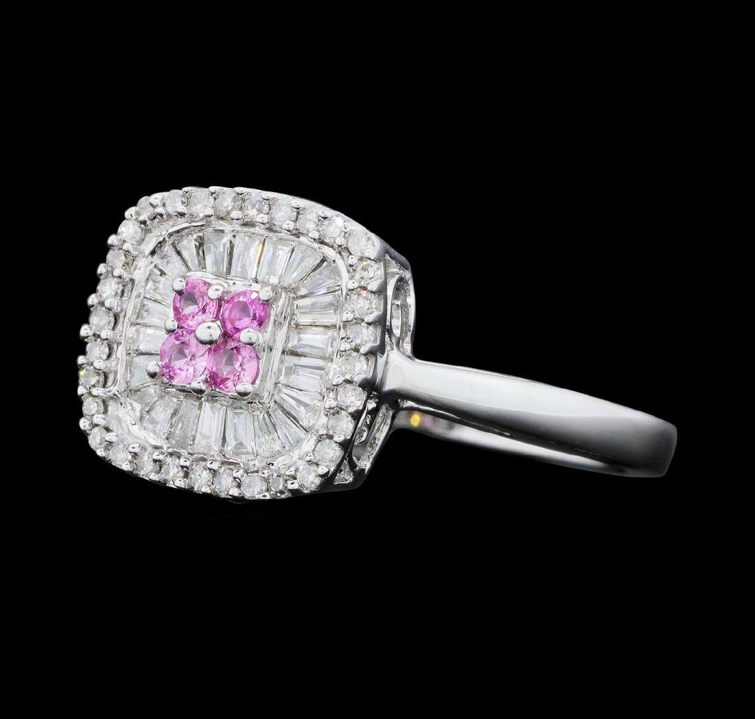 14KT White Gold Ladies 0.50 ctw Diamond and Pink - 2