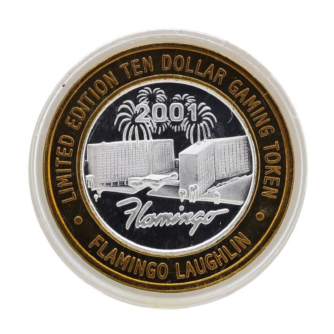 .999 Silver Flamingo Las Vegas Nevada $10 Casino
