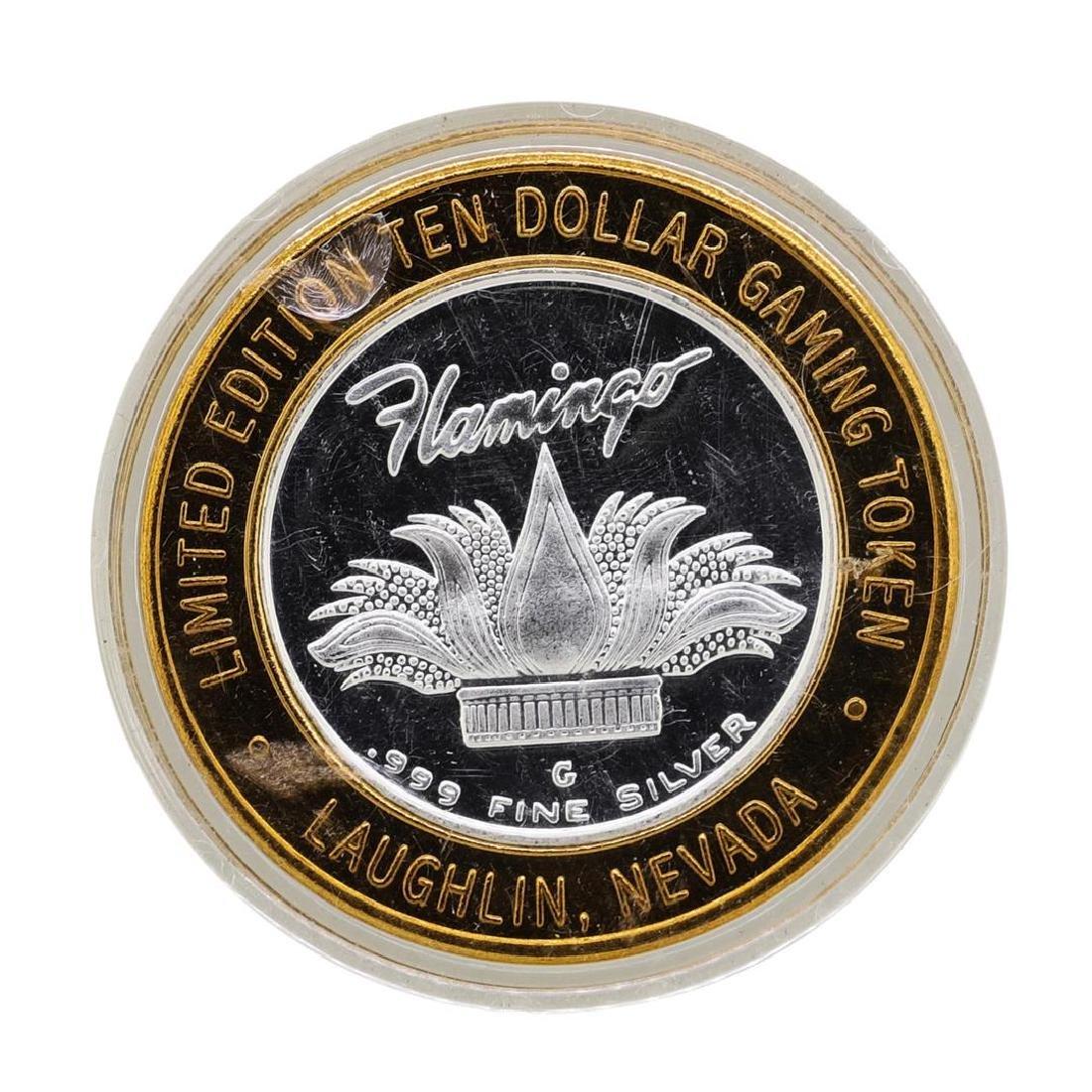 .999 Silver Flamingo Las Vegas Nevada $10 Casino - 2