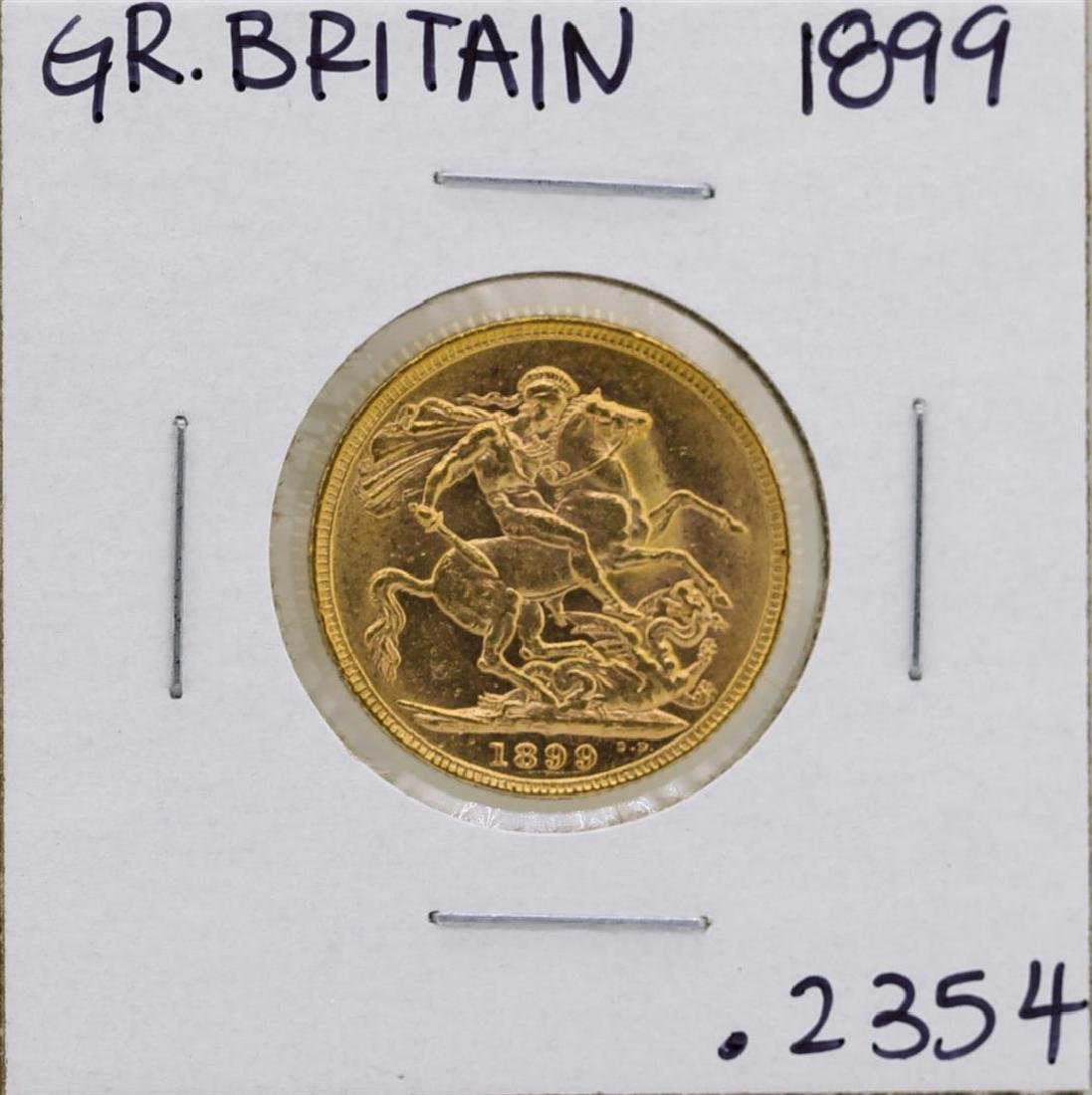 1899 Great Britain Queen Victoria Sovereign Gold Coin