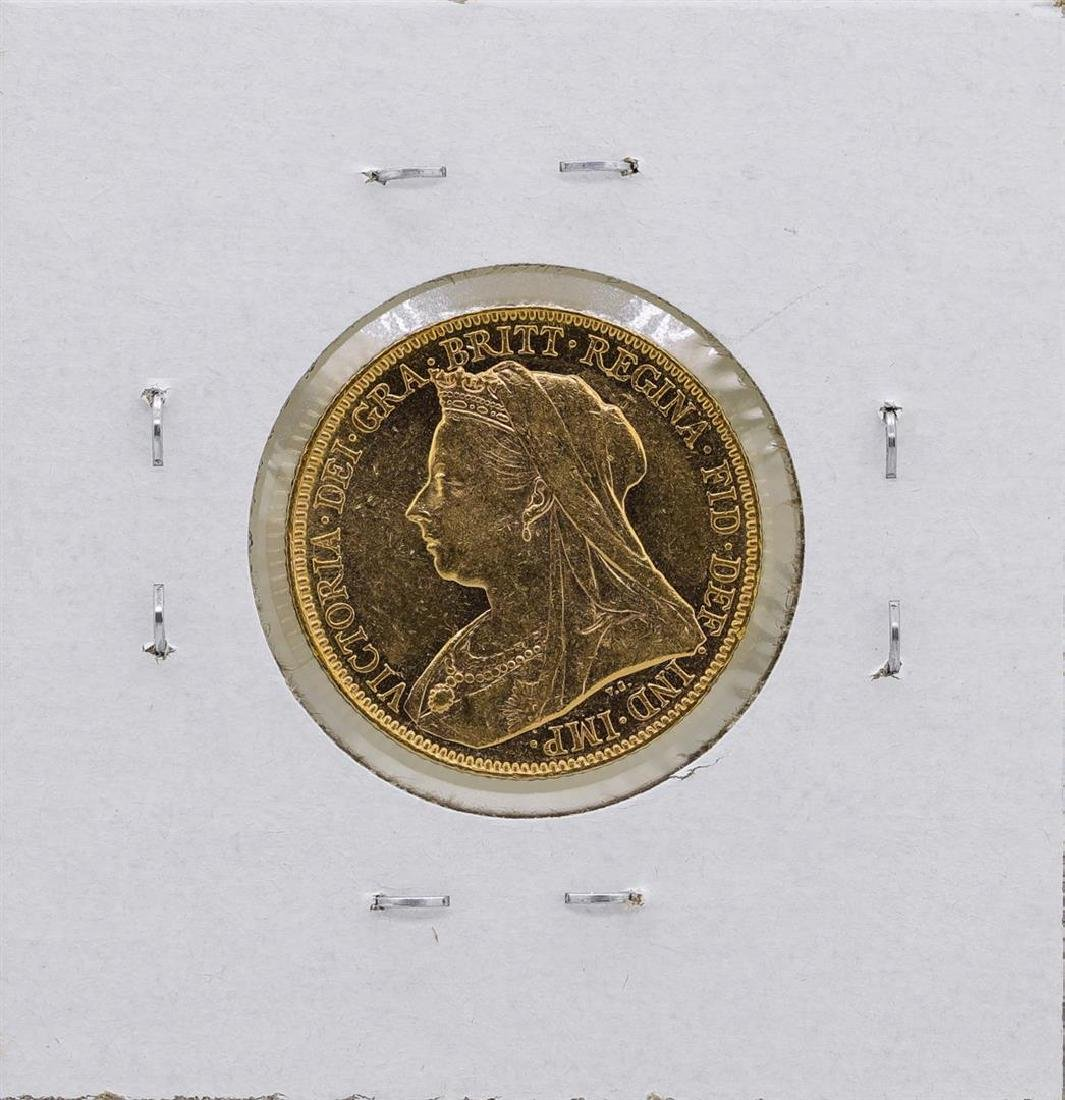 1899 Great Britain Queen Victoria Sovereign Gold Coin - 2