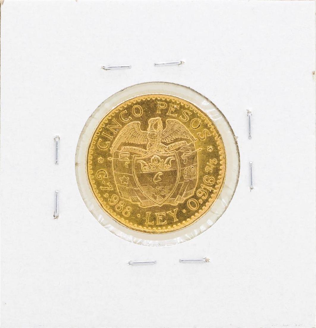 1924 Columbia 5 Pesos Gold Coin - 2
