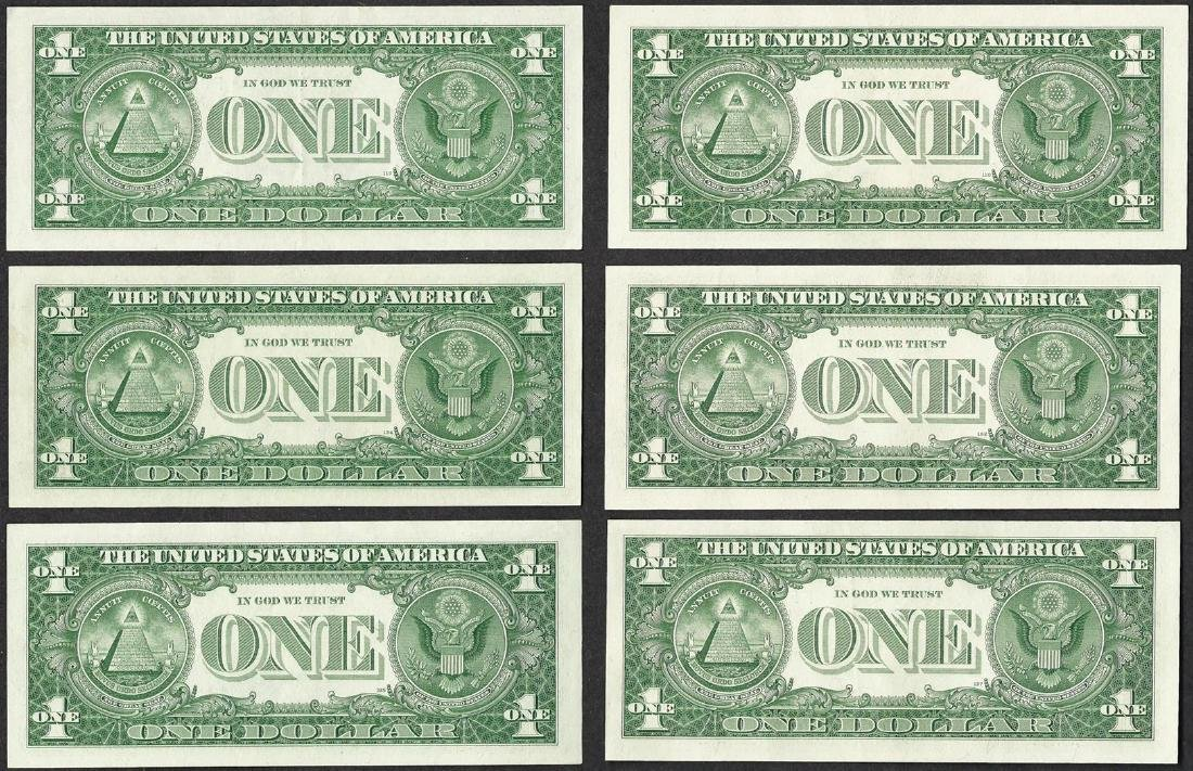 Lot of (6) 1957 $1 Silver Certificate Notes - 2
